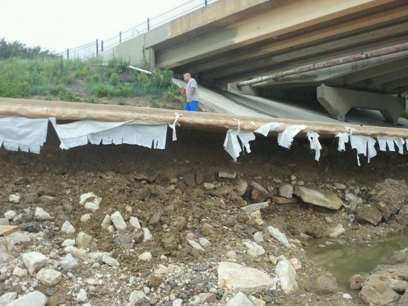 Washed-out paths like this one are being inspected by SARA officials.