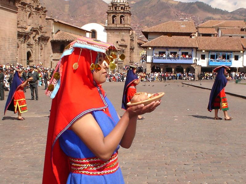 Inti Raymi (Festival of the Sun) at Plaza de Armas, Cusco, 2005