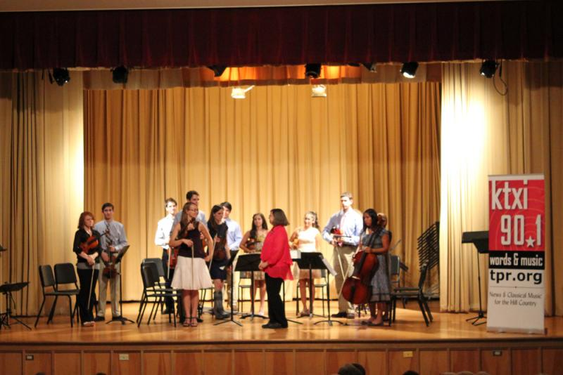 Students from the Hill Country Youth Orchestra