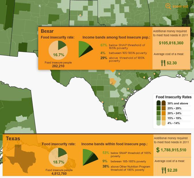 Hunger Study Map Highlights Local Need In Bexar County Texas