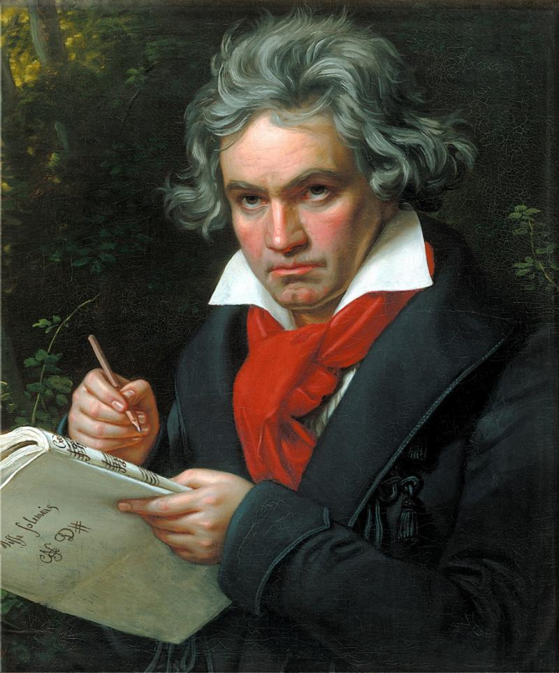 Portrait of Ludwig van Beethoven when composing the Missa Solemnis, 1820