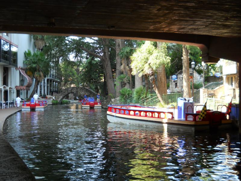 The San Antonio Riverwalk.