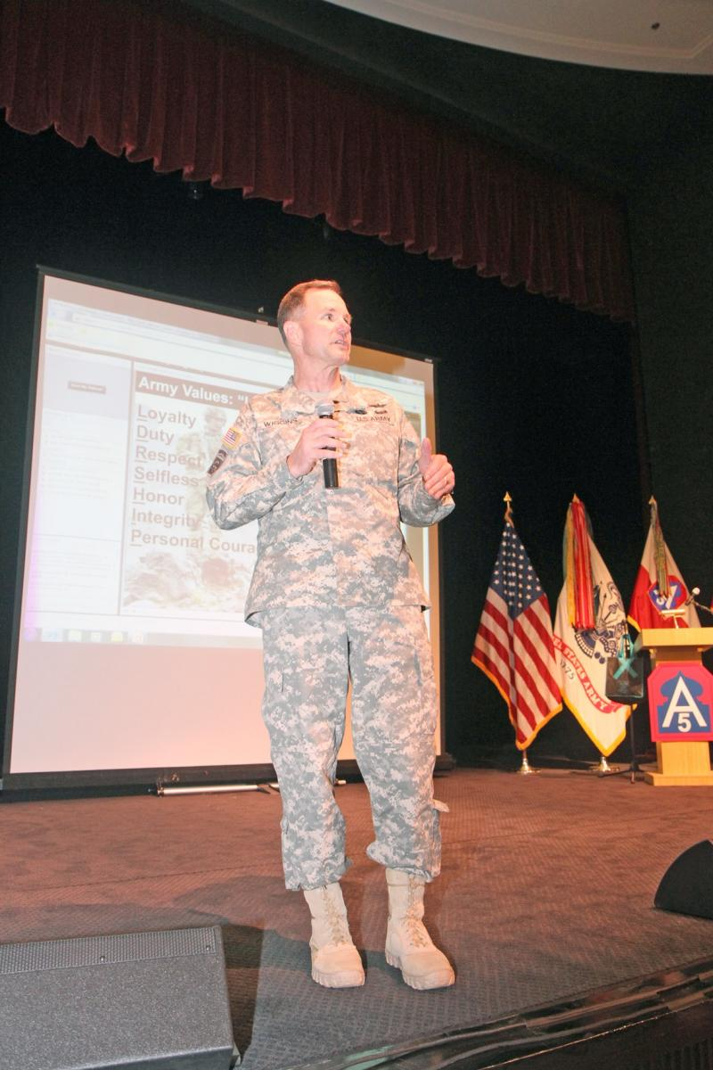 Maj. Gen. Perry Wiggins address SHARP training June 26.