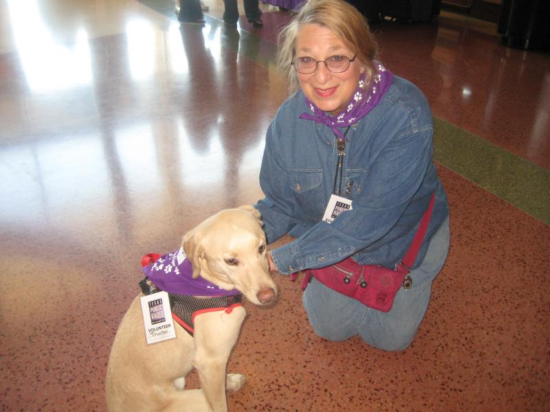 TPR members Christine Saalbach and Thurber, who was a member before we started the pet memberships.