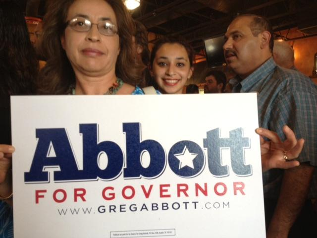 Greg Abbott supporters at a rally in McAllen on July 15, 2013.