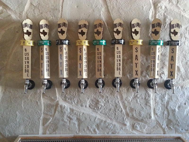 Busted Sandals Brewing's tap wall boasts nine taps. Three of them will be used initially with six for planned growth.