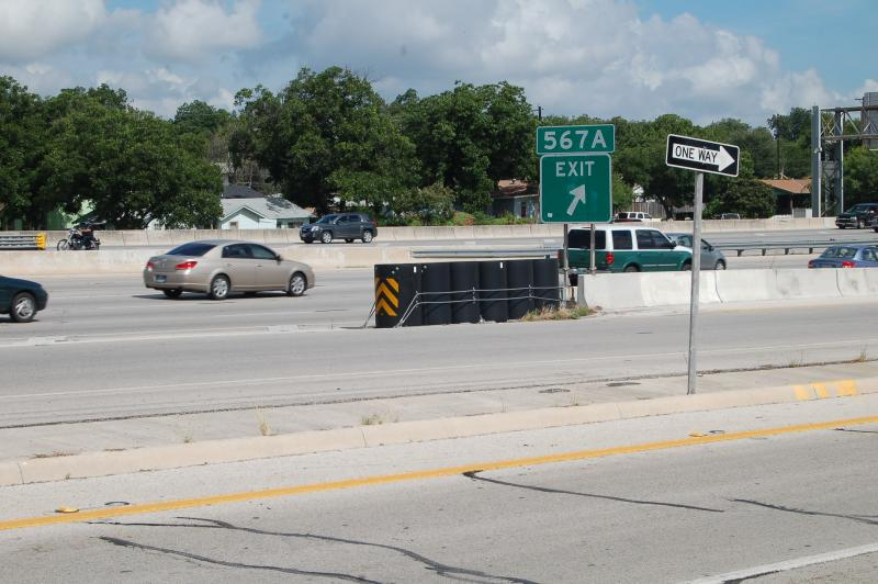 Vehicle impact attenuators are located throughout the state to help cushion the blow to drivers who crash into barriers and the median on the highway.