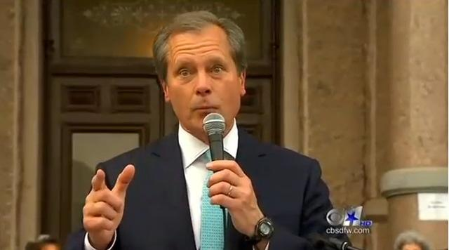 Screen shot from a David Dewhurst campaign video.