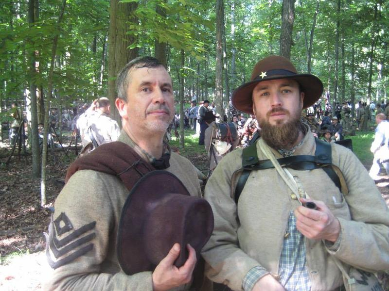 Jody Wood (in beard) from San Marcos went to Gettysburg with a regiment from Texas.
