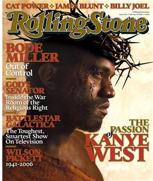 Kanye West cover that drew controversy over his depiction as Christ.  February 9th, 2006