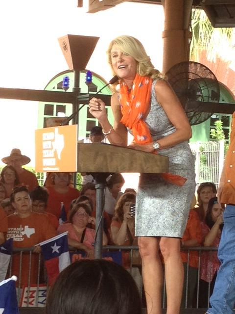 Wendy Davis is hoping to roll momentum gained from the Stand With Texas Women rallys this summer into a win in November 2014.