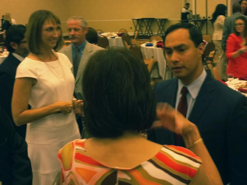 Congressman Joaquín Castro at a town hall meeting earlier this year.