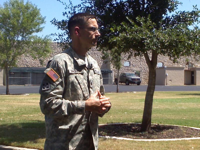 Lt. Col Michael Brough at Fort Sam.