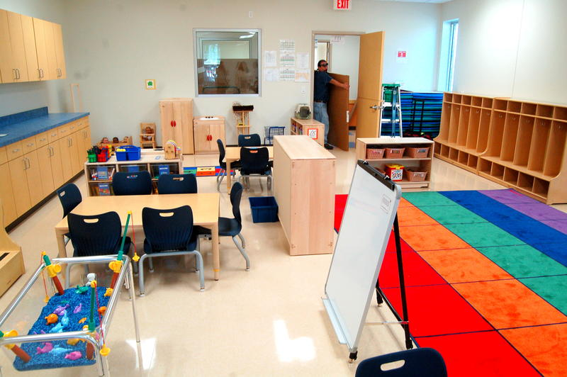 A classroom in the Southside Pre-K 4 SA learning center.
