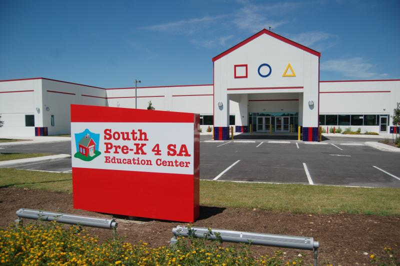 The South Pre-K 4 SA model education center is nearing completion.