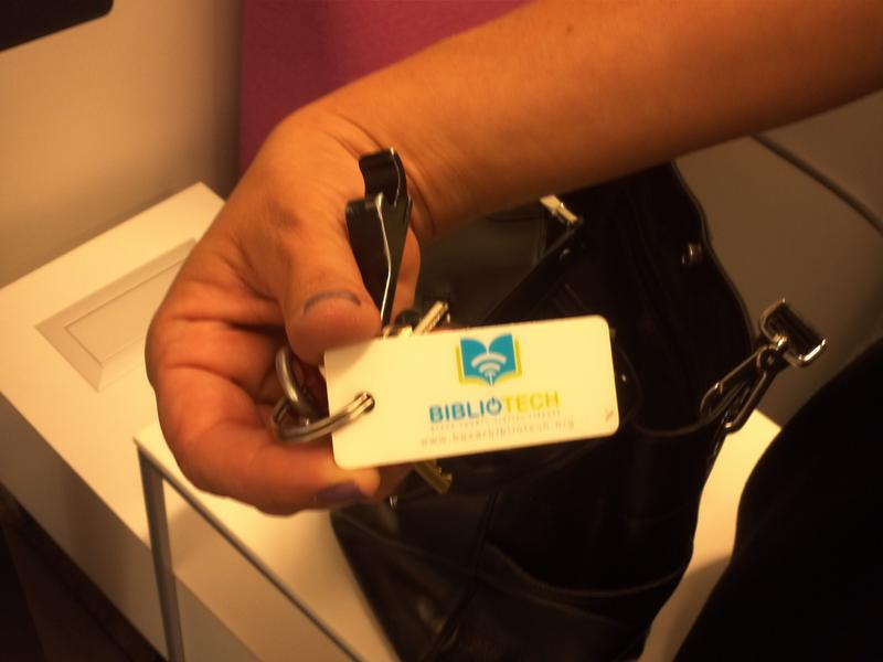The Bibliotech library key fob.