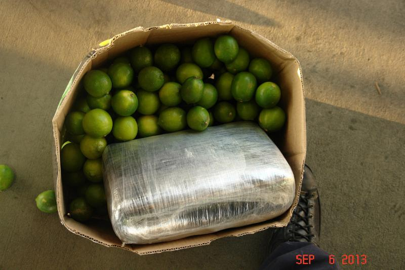 On Sept. 6, 2013, CBP officers at the Otay Mesa commercial port of entry discovered 1,623 pounds of marijuana in a shipment of limes.