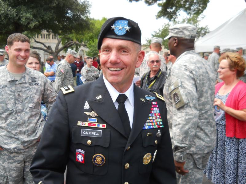 Lt. Gen. William Caldwell IV turned over the reins of Army North to LTG Perry Wiggins. Caldwell's father also served as Army North's commander as his last assignment before retiring.