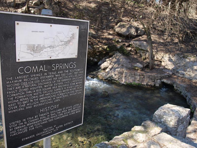 Comal Springs.
