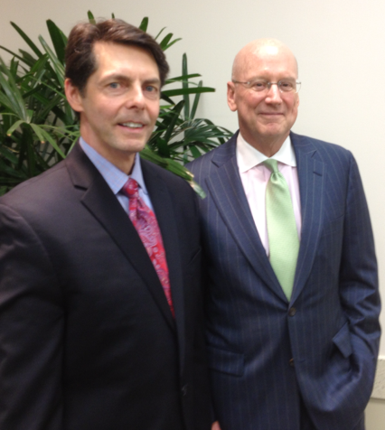 (Right) Jaime A. Wesolowski, president and CEO of Methodist Healthcare System, and William L. Henrich, M.D., MACP president of the UT Health Science Center at San Antonio.