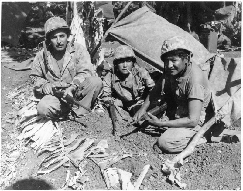 Native American Marines on Saipan