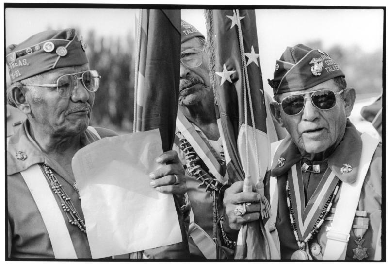Navajo code talkers at Shiprock Fair, Shiprock, New Mexico, Oct. 7, 1989.