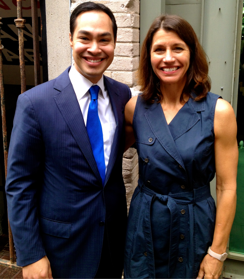 Mayor Castro and Katy Flato