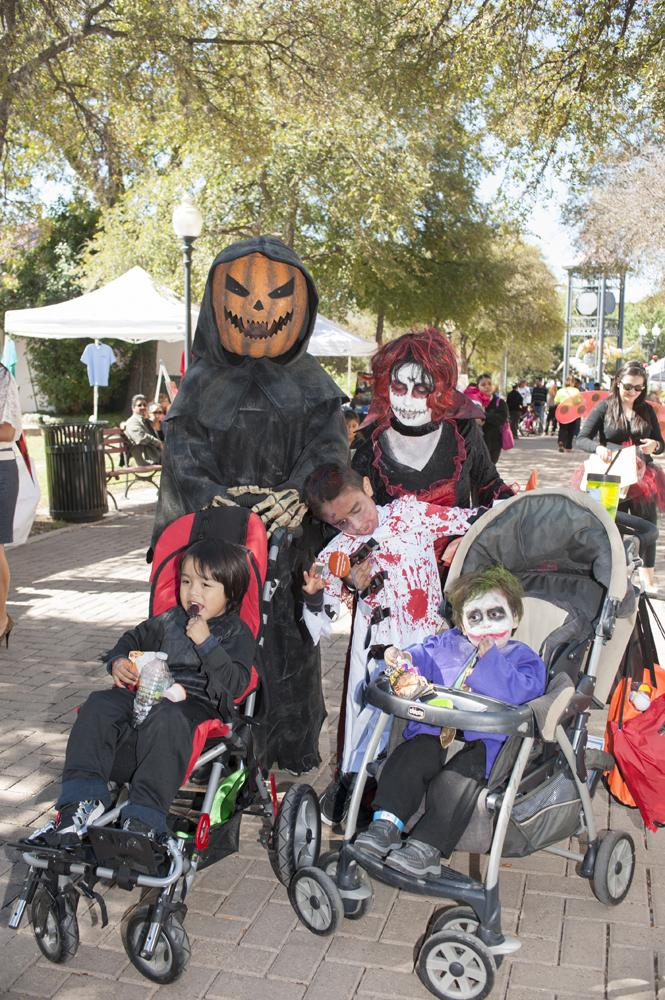 A spooky family at AccessAbility Fest 2012.