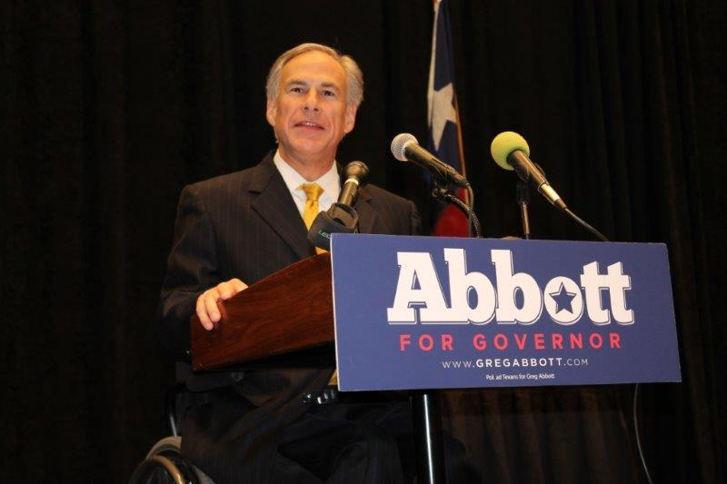 Greg Abbott delivers his remarks to the Texas Association of Realtors.