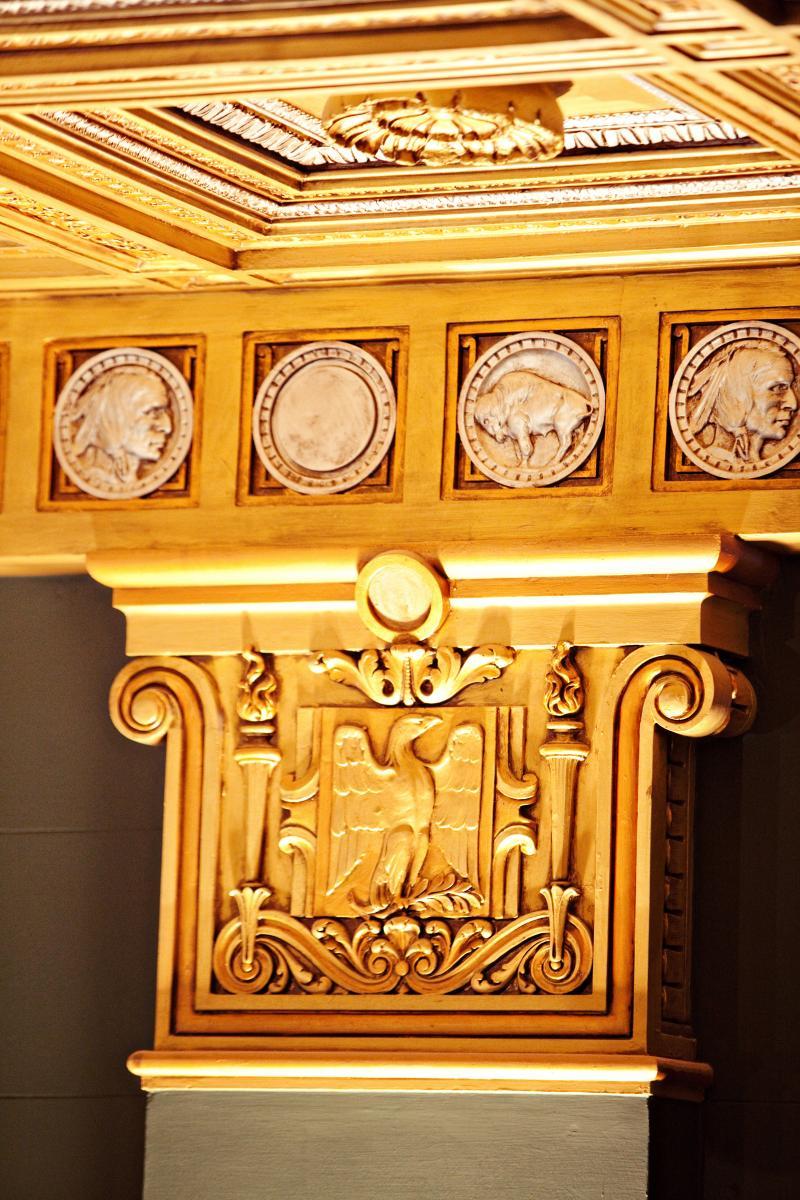 Lobby Column detail, Briscoe Western Art Museum