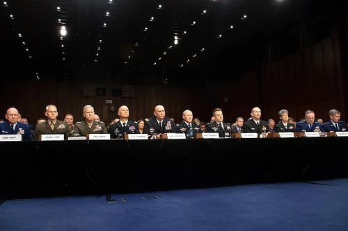 WASHINGTON (June 4, 2013) Military service chiefs testify about sexual assault in the military before the Senate Armed Services Committee. (U.S. Army photo by Staff Sgt. Teddy Wade/ Released)