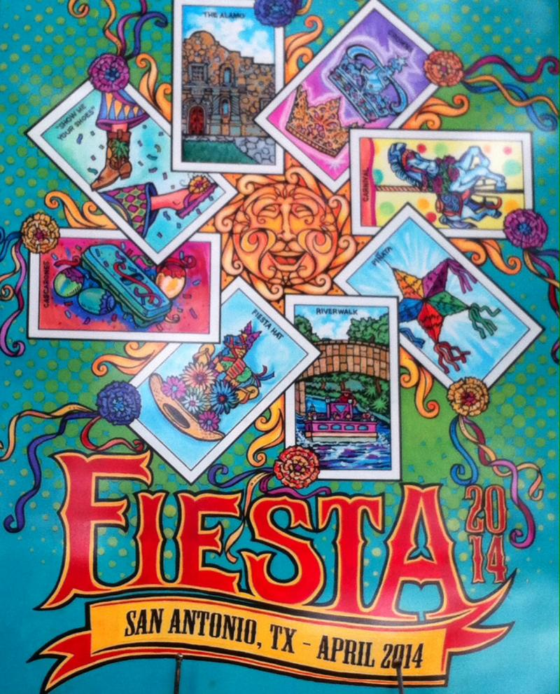 The Fiesta 2014 poster by Marcelino Villanueva  has been unveiled!