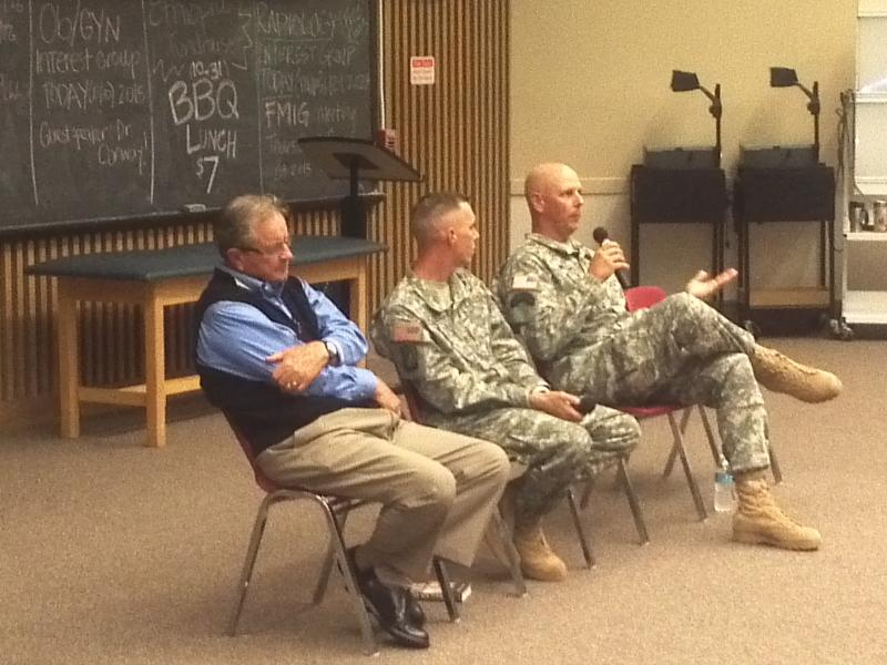 Panel discussion on medevac missions and training.