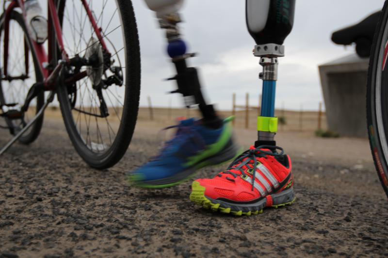 Carlos Gutierrez says his feet were hacked off when he refused to pay criminals a monthly extortion demand. He is cycling in Texas to highlight his appeal for political asylum. He has been granted a work permit pending that appeal.