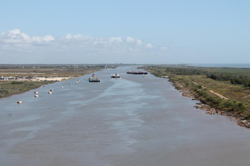 Water from the Highland Lakes ends up at the coast in Matagorda Bay.