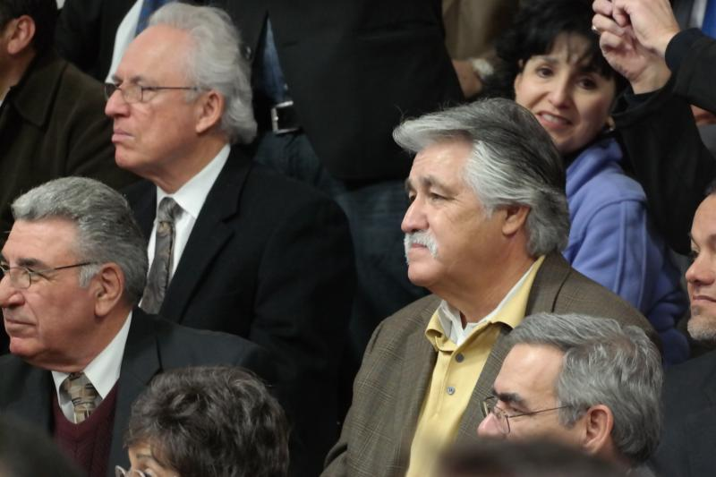 Dist. 6 San Antonio City Councilman Ray Lopez was spotted in the crowd of people to hear the announcement by State Sen. Leticia Van de Putte.