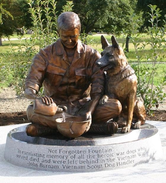 Not Forgotten monument, dedicated to all the dogs who were left behind in war-torn countries after serving alongside U.S. military