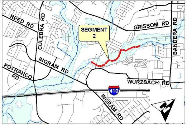 Location map of the Segment 2 project.