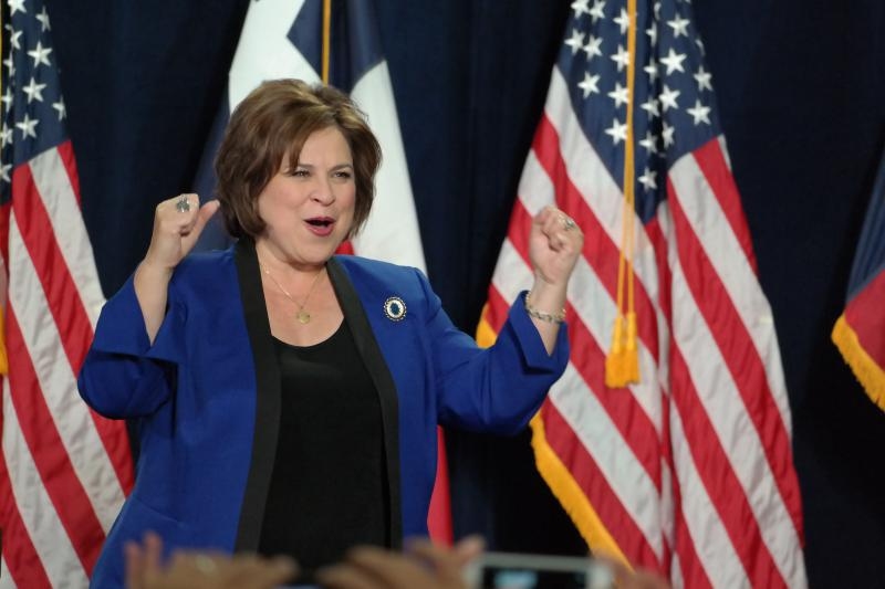 State Sen. Leticia Van De Putte as she announced her bid for lieutenant governor in November 2013.