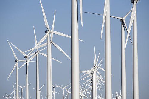 Wind Turbines at a Texas Wind Farm.