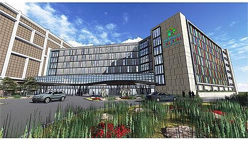 Rendering of completed Methodist Children's Hospital Tower on the Methodist campus in the Medical Center