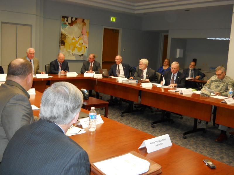 Members of the San Antonio Military Transformation Taskforce meet in 2013.