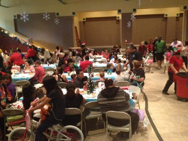 Holiday party for children of Bexar County inmates.