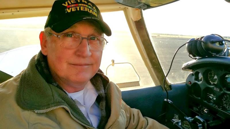 John Aken became a pilot following his career in the military.
