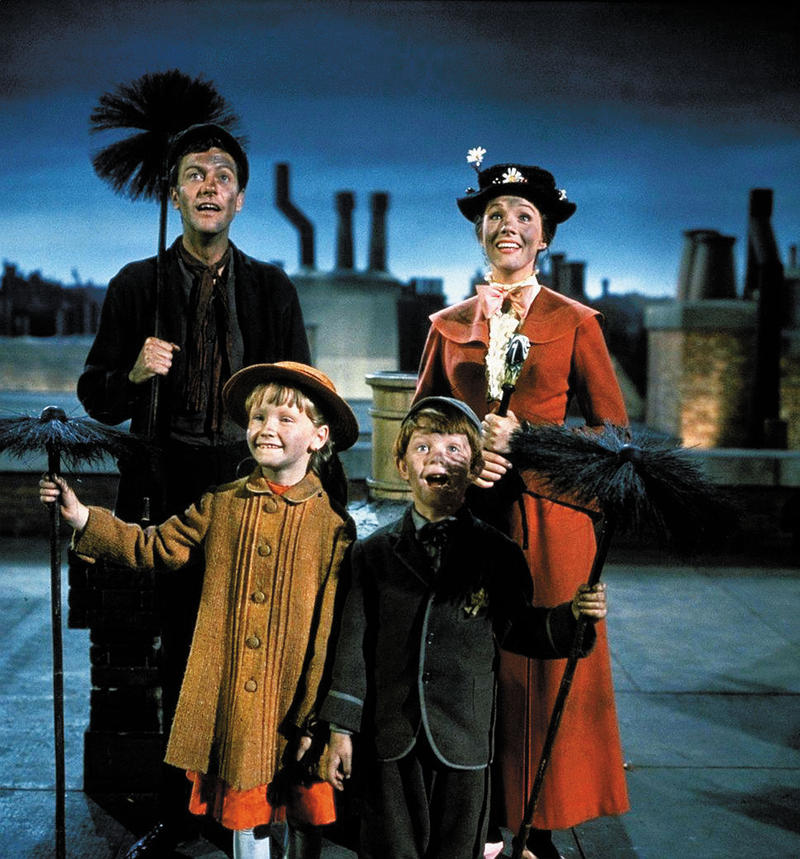 Dick Van Dyke, Julie Andrews, Karen Dotrice and Matthew Garber.