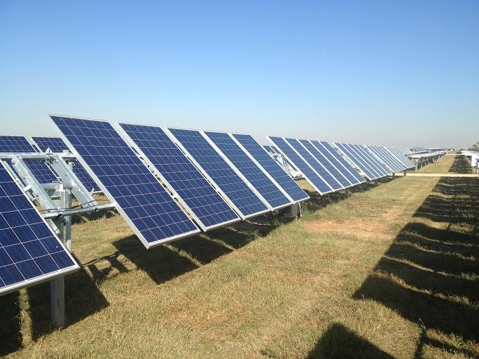 167,000 of these solar panels cover the 450 acre plot of land a few miles south of San Antonio.
