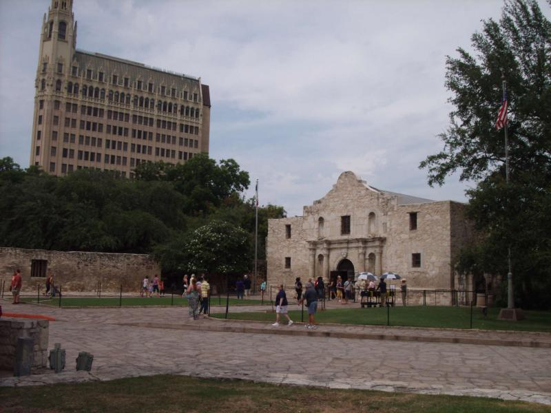 Historians say people often don't understand that the Alamo was present before downtown San Antonio built up around it.