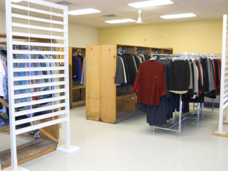 Dress for Success San Antonio's women's section last year. The stock now is in need of replenishment