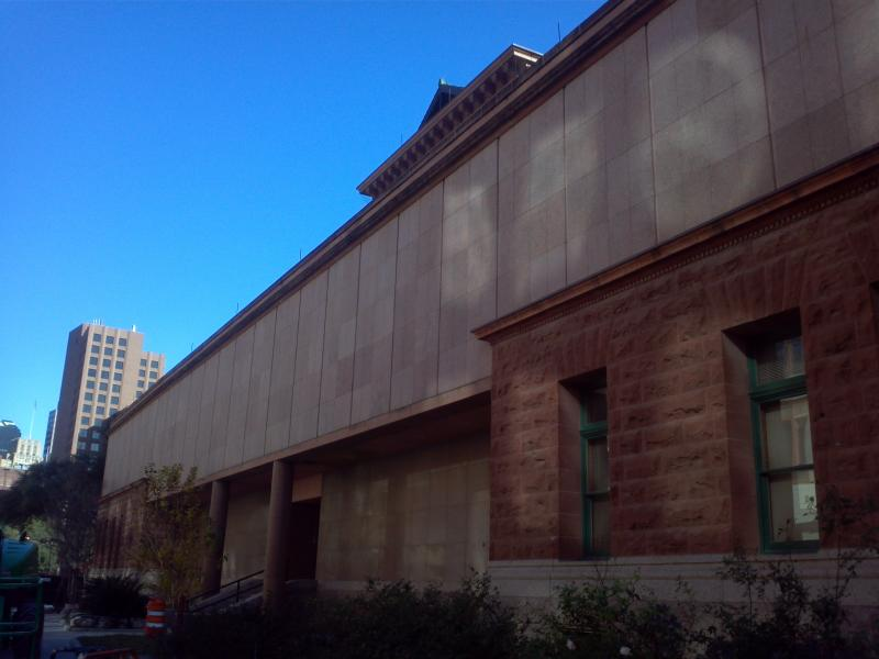 The first Gondek addition, built in 1962, ran the length of the west side of the original courthouse. The addition was a two-story structure built around the original entryways to the courthouse
