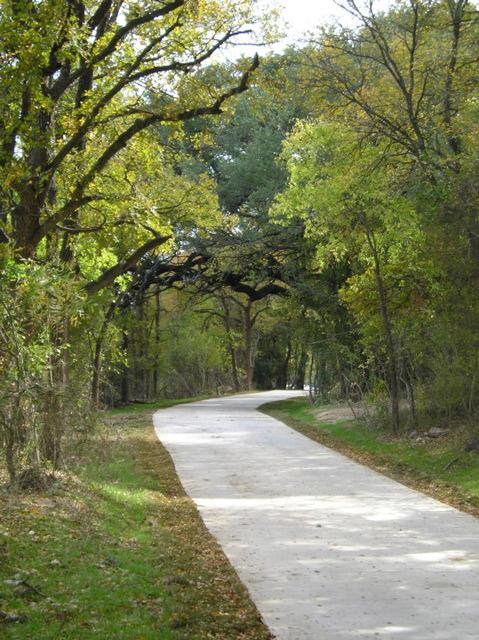 A stretch of the Leon Creek Greenway.